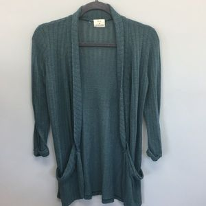 Anthro | Pins & Needles Open Front Knit Cardigan